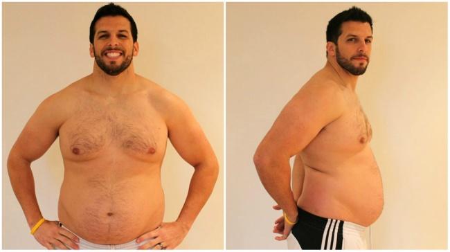 Przytył 31 kg, by udowodnić, że zawsze można wrócić do formy. Jego przemiana daje do myślenia