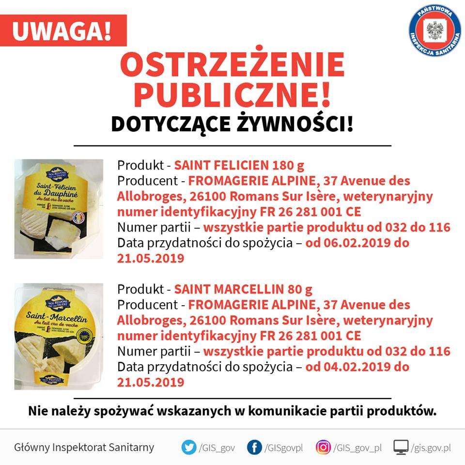 Skażone sery w Polsce