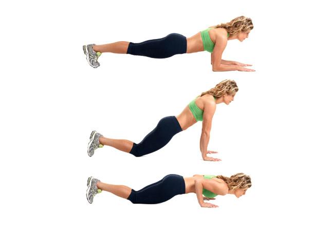 Oponka na brzuchu, ćwiczenia