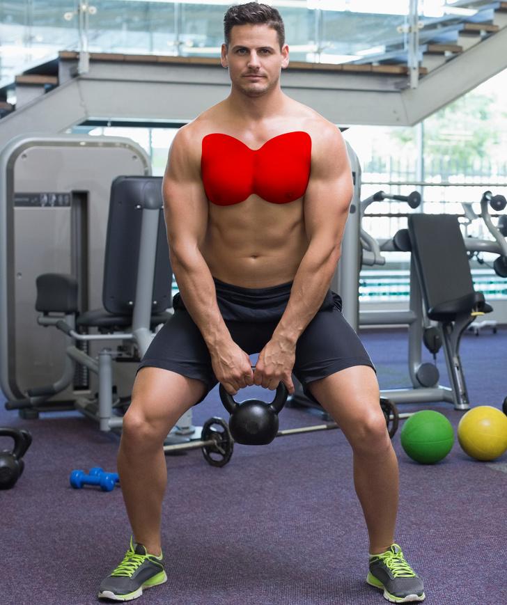 8 szybkich treningów dla mężczyzn, którzy zmagają się z tłuszczem na klatce piersiowej