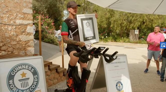 rekord świata na rowerze stacjonarnym