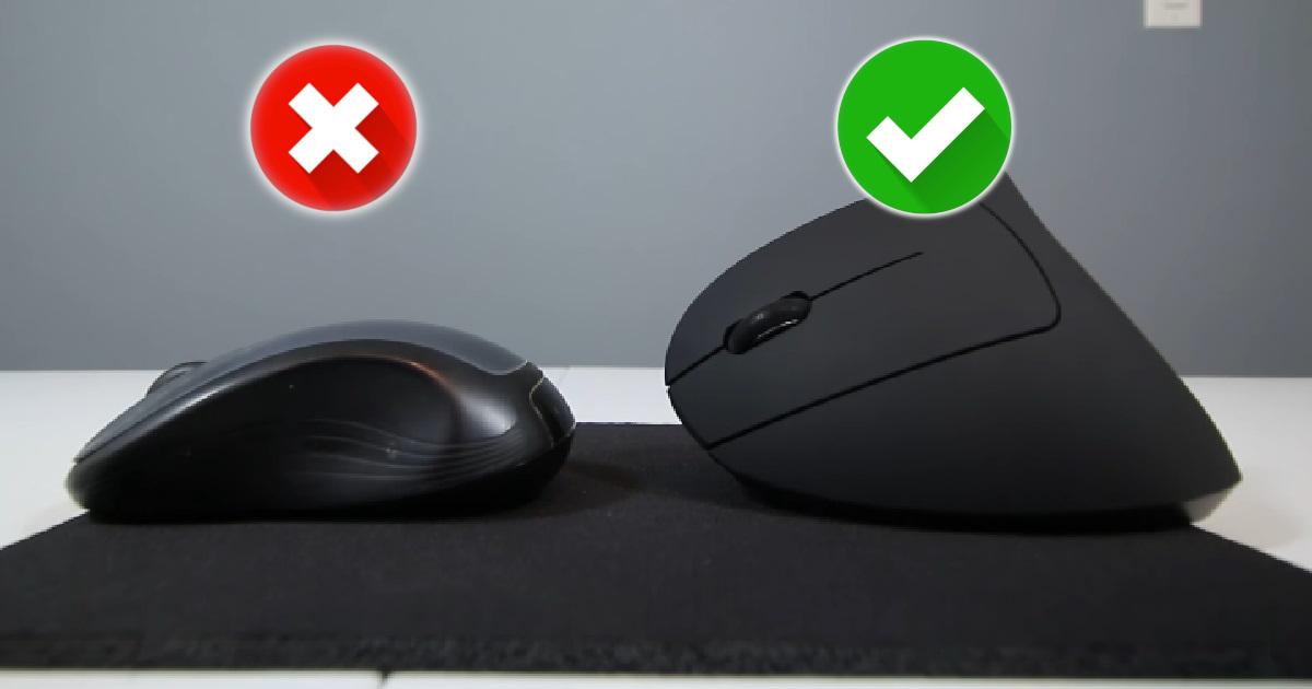 ergonomiczna myszka pionowa