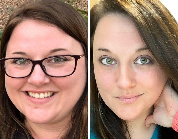 20 osób, które są najlepszym dowodem na to, jak utrata wagi może wpłynąć na rysy twarzy